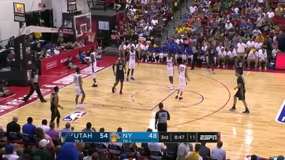 Vegas Summer League Highlights: Jazz 90 | Knicks 85