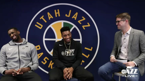 Utah Jazz Live: Ekpe Udoh & Donovan Mitchell talk to West High School students