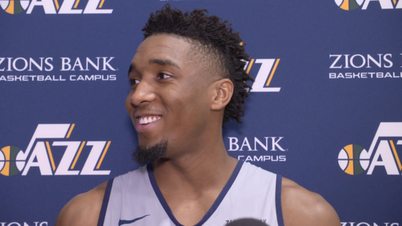 Donovan Mitchell Practice Interview - 10.16.18