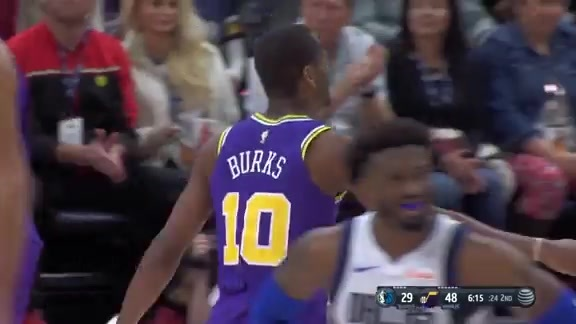 Highlights: Alec Burks—18 points, 4-5 from 3