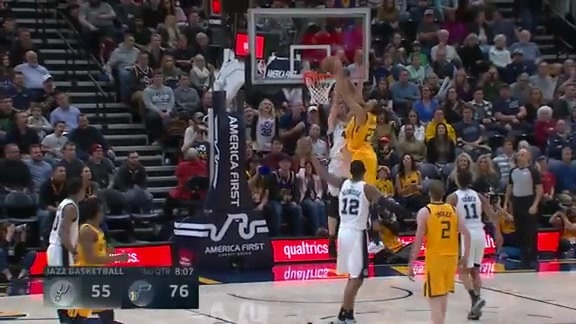 Highlights: Rudy Gobert—18 points, 10 rebounds, 4 assists