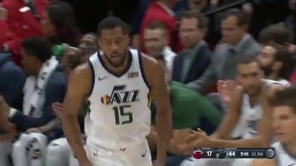 Highlights: Derrick Favors—17 points, 8 rebounds