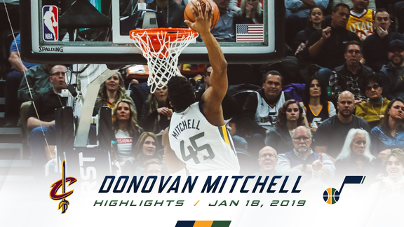 Highlights: Donovan Mitchell—24 points, 5 assists
