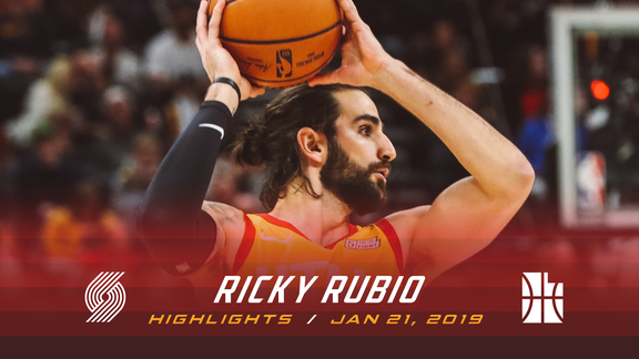 Highlights: Ricky Rubio—12 points, 2 assists, 2 rebounds
