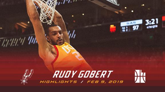 Highlights: Rudy Gobert—21 points, 13 rebounds