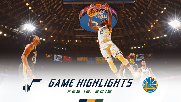 Highlights: Jazz 108 | Warriors 115