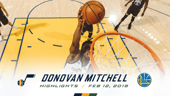 Highlights: Donovan Mitchell—25 points, 7 rebounds, 3 3pm
