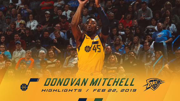 Highlights: Donovan Mitchell—38 points, 5 assists, 4 3pm