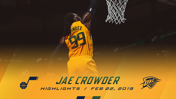 Highlights: Jae Crowder—20 points, 8 rebounds, 4 3pm