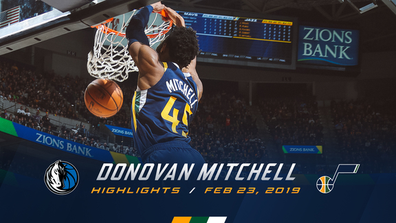 Highlights: Donovan Mitchell—25 points, 8 rebounds, 6 assists