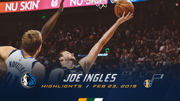 Highlights: Joe Ingles—18 points, 6 assists, 5 3pm