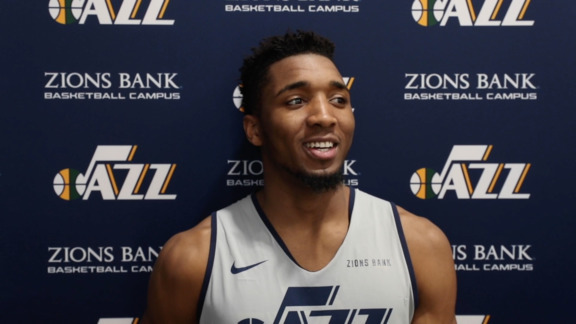 Donovan Mitchell Practice Interview - 2.26.19