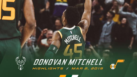 Highlights: Donovan Mitchell—46 points, 6 assists, 5 3pm