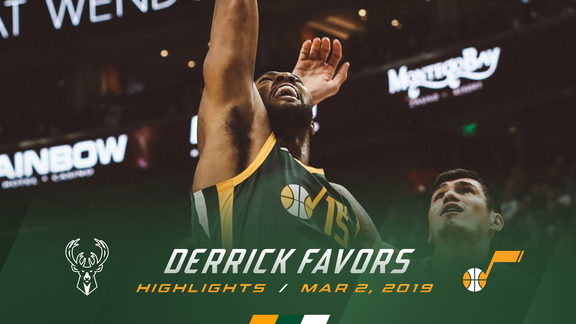Highlights: Derrick Favors—23 points, 18 rebounds, 3 blocks