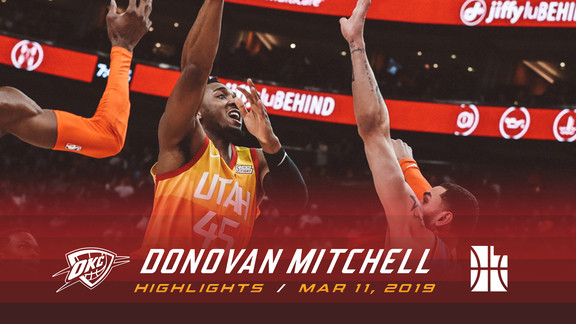 Highlights: Donovan Mitchell—25 points, 5 assists, 5 steals