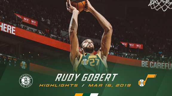 Highlights: Rudy Gobert—23 points, 16 rebounds, 3 blocks