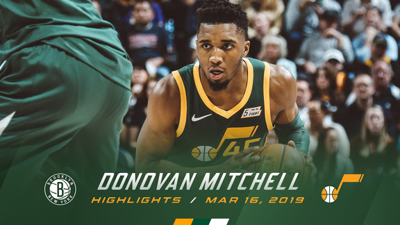 Highlights: Donovan Mitchell—23 points, 6 rebounds, 4 3pm