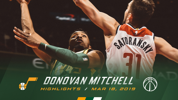 Highlights: Donovan Mitchell—19 points, 3 3pm
