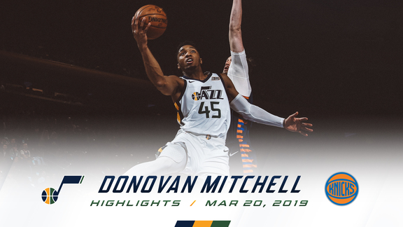 Highlights: Donovan Mitchell—30 points, 5 assists, 5 3pm