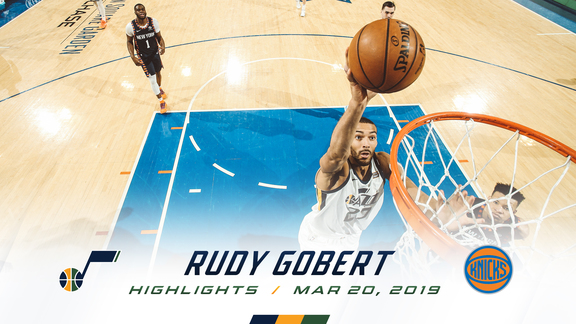 Highlights: Rudy Gobert—18 points, 9 rebounds