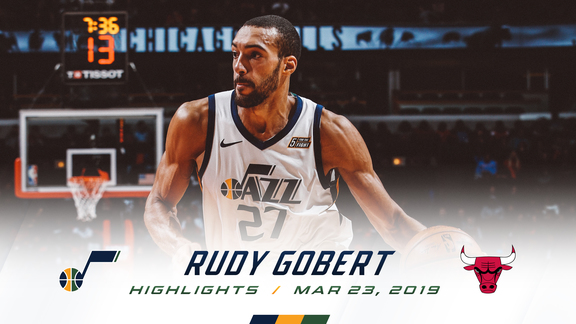 Highlights: Rudy Gobert—21 points, 14 rebounds, 4 blocks