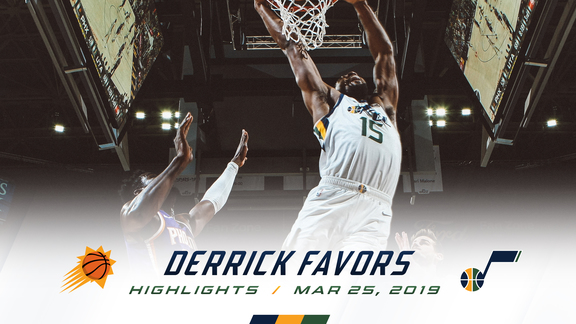 Highlights: Derrick Favors—18 points, 8 rebounds