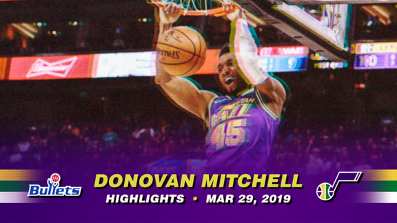 Highlights: Donovan Mitchell—35 points, 5 assists