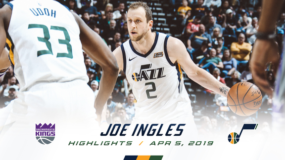 Highlights: Joe Ingles—17 points, 7 assists, 5 3pm