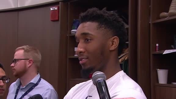Postgame Interviews, 4.5—Donovan Mitchell, Ekpe Udoh, Georges Niang, Grayson Allen