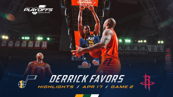 Highlights: Derrick Favors—14 points, 12 rebounds, 3 blocks