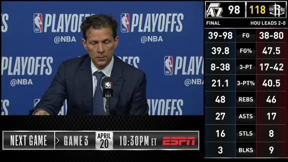 Postgame Interviews: 4.14—Coach Quin Snyder, Ricky Rubio, Derrick Favors