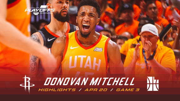 Highlights: Donovan Mitchell—34 points, 5 assists, 4 3pm