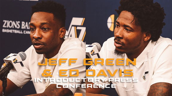 Ed Davis & Jeff Green are introduced as Jazzmen