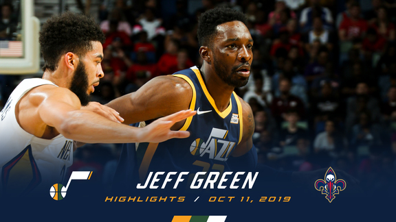 Highlights: Jeff Green—20 points, 2 3pm