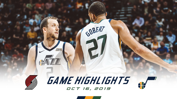 Highlights: Jazz 118 | Blazers 126