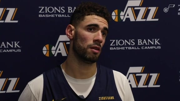 Georges Niang Practice Interview - 10.18.19