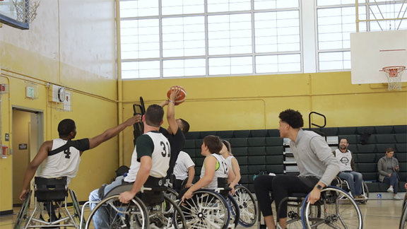 Justin Jackson Plays Wheelchair Basketball with Sacramento Royals