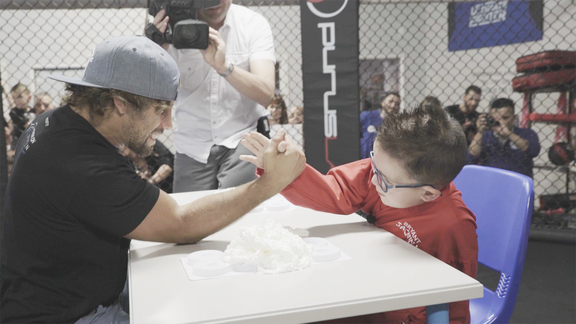 Make-A-Wish Arm Wrestling Challenge with Urijah Faber