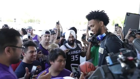 Marvin Bagley Loves His Basketball