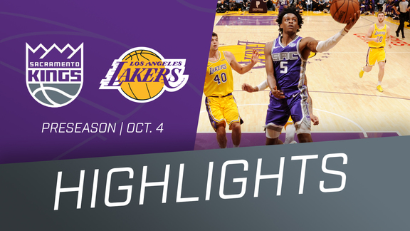 Kings at Lakers Preseason Highlights 10.4.18