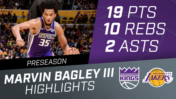 Marvin Bagley III (19 pts, 10 reb) vs Lakers Preseason 10.4.18