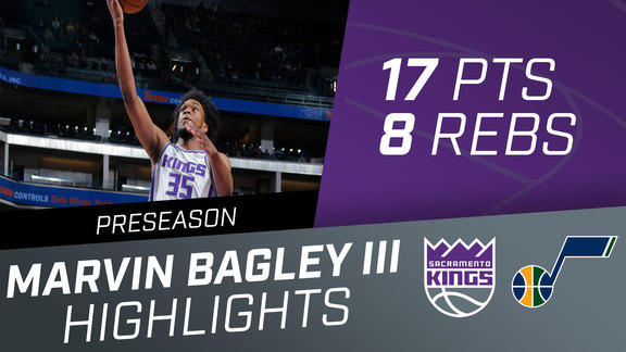 Marvin Bagley III (17 pts, 8 rbs) vs. Jazz Preseason 10.11.18