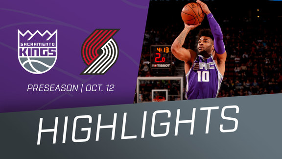 Kings vs Trail Blazers Preseason Highlights 10.12.18