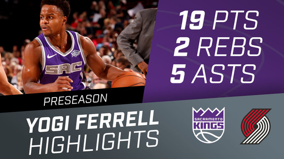 Yogi Ferrell (19 pts, 2 rbs, 5 asts) vs Trail Blazers Preseason Highlights 10.12.18