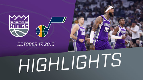 Kings vs Jazz Highlights 10.17.18