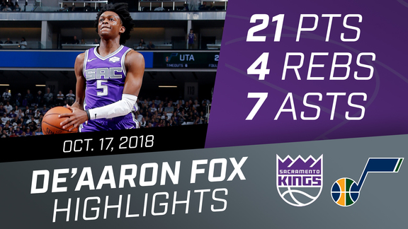 De'Aaron Fox (21 points) Highlights vs. Utah Jazz.mp4