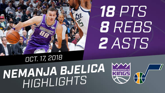 Nemanja Bjelica (18 pts, 8 rebs) vs Jazz 10.17.18