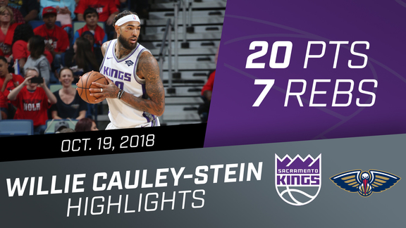 Willie Cauley-Stein (20 pts, 7 reb) vs Pelicans 10.19.18