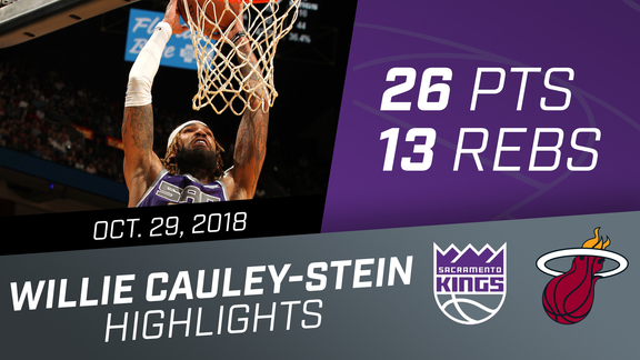 Willie Cauley-Stein (26 pts, 13 rebs) vs Heat 10.29.18