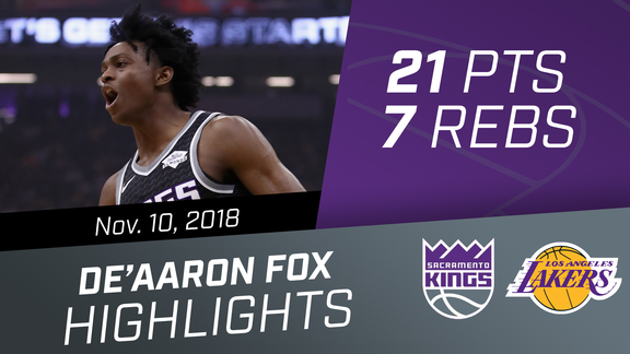 De'Aaron Fox (21 pts, 7 rebs) vs Lakers 11.10.18